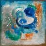 PERO' VENNE L'AMORE  2004  CM 115X115  tecnica mista su tela  Collezione privata, Chicago