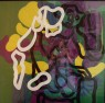 SENZA AVER NIENTE DA DIRE   1971 cm 50x60 acrilico su acetato sovrapposto