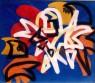 DISLOCAZIONE DI FOMA  1971 cm 70x80 acrilico su acetato sovrapposto  Collezione privata Marco Tiella Rovereto, Italia