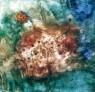 THE LOOK OF LOVE  2002  CM 115X115  tecnica mista su tela  Collezione privata Orsola Bolognani Cascina, Italia